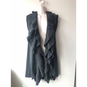 ✨ NWT Gray Longline Shawl Waterfall Cardigan